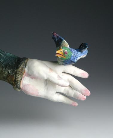 Bronze and ceramic sculpture by Laila Farcas-Ionescu  Artist CV