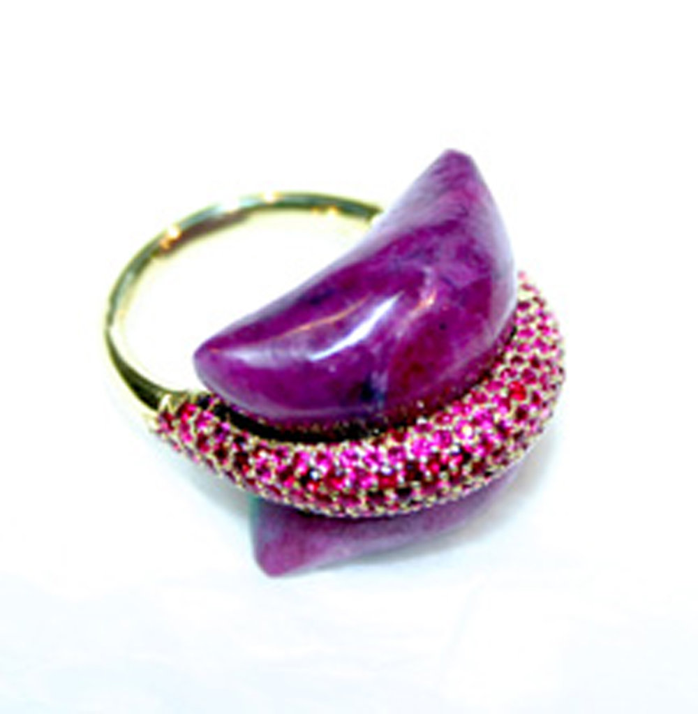 Pillow For Dreaming Ruby Ring