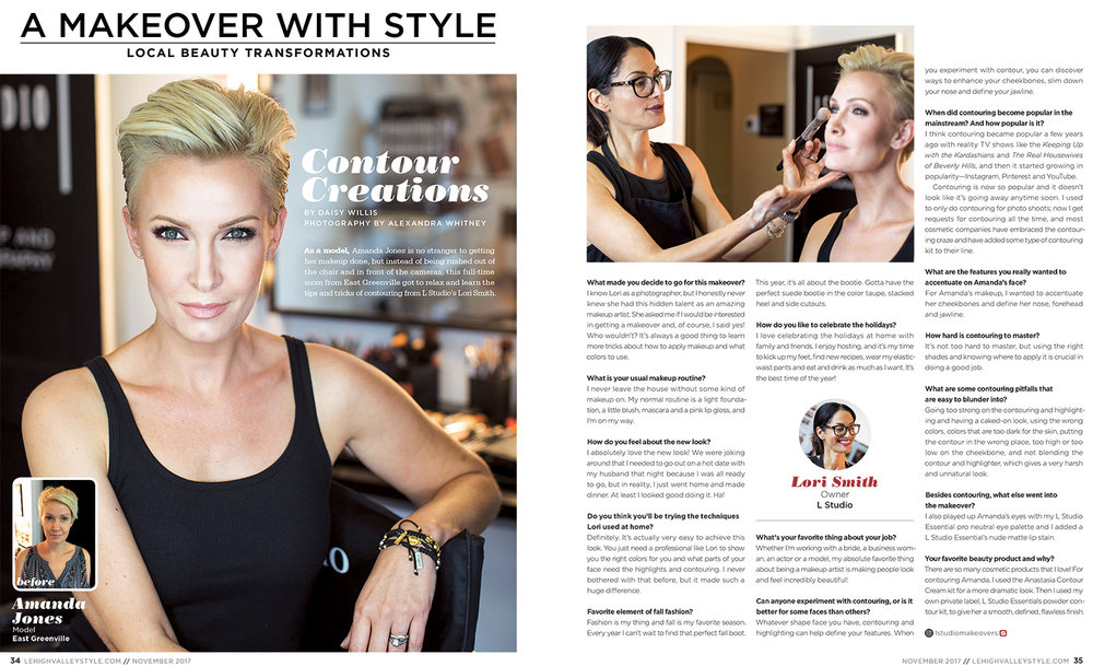 Makeover with Style - Alexandra Whitney for Lehigh Valley Style - Lori Smith - L Studio .- Portrait Photographer - Personal Branding Photographer