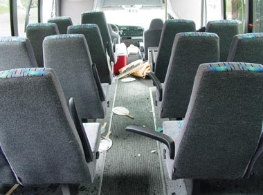 Shuttle Bus Interior Safety.