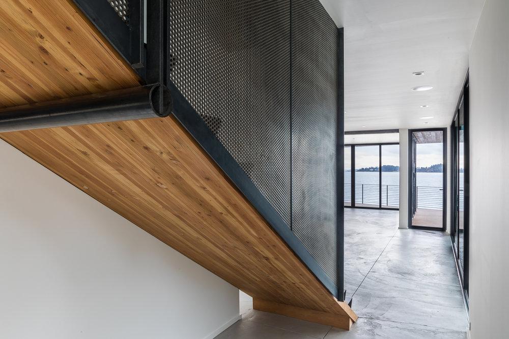 lower stairs behind