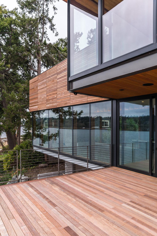 exterior back deck