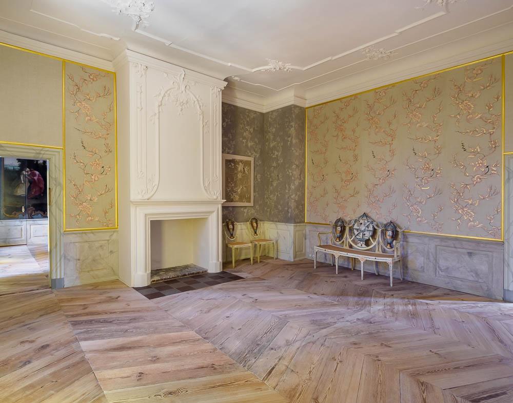 Historischer Saal im Schloss Mirow
