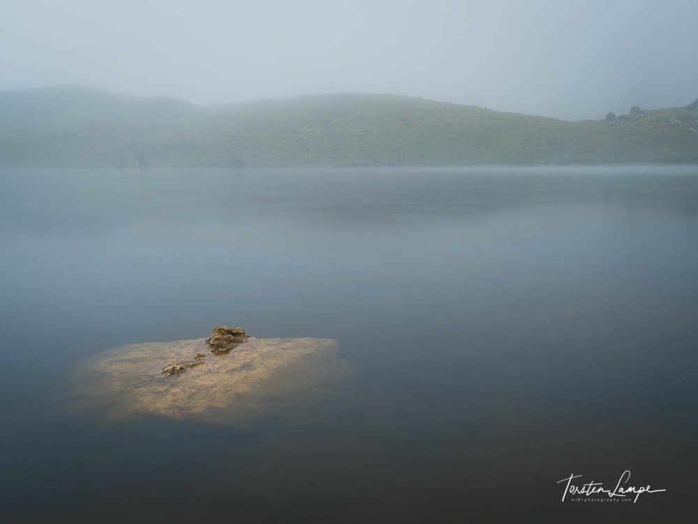 Koruldi Lakes in mist