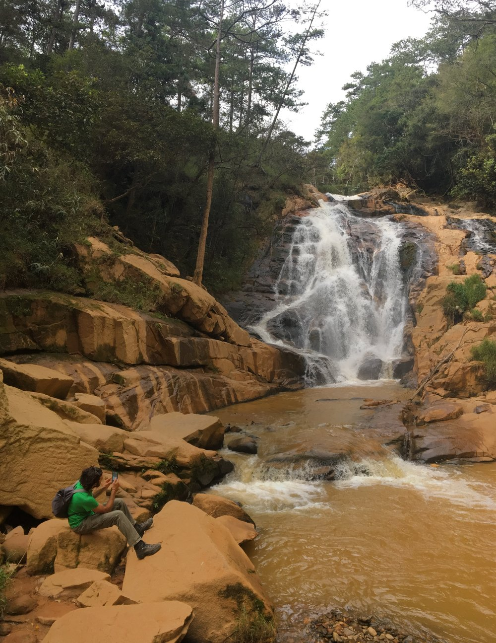 Tiger waterfall in Da Lat
