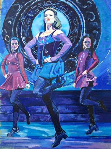 "The Art of Irish Dancing   My interest in creating this  body of work began when my son started Irish dancing lessons nearly 20 years ago. I loved the hard work and dedication I witnessed in the young dancers who all hoped to one day be a World Champion. I wanted to depict the ""dailyness"" of just what that perseverance looked like. I also personally  aspire to be the Degas of Irish dancing."