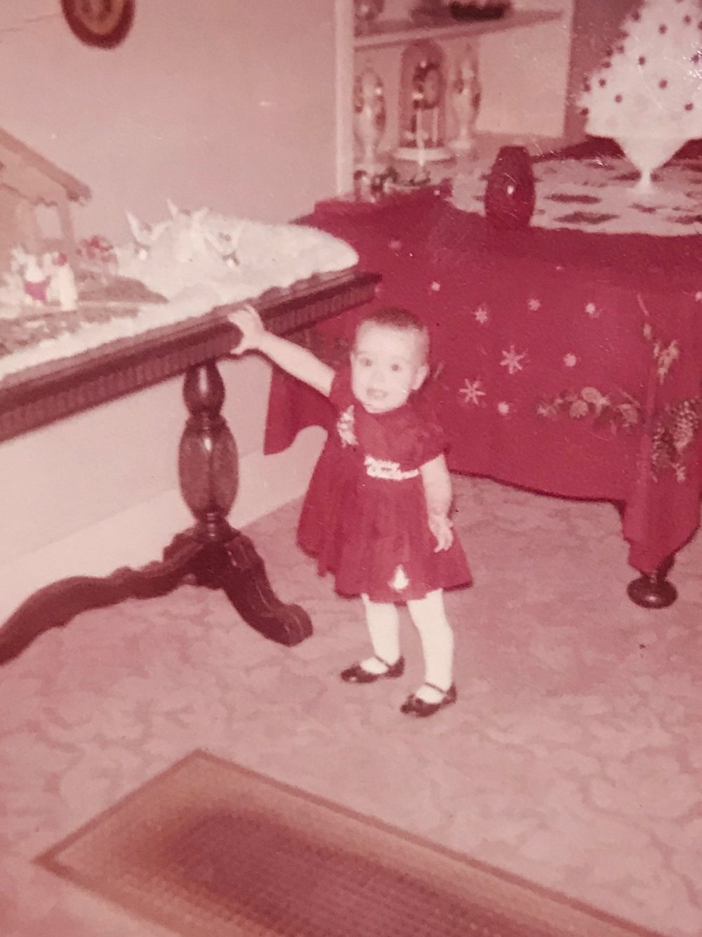 Just knee high to a June bug, I was my own mini-me.