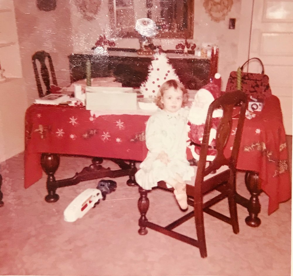 Marked early as a tomboy, Santa brought me a rig that hauled cars! 😂