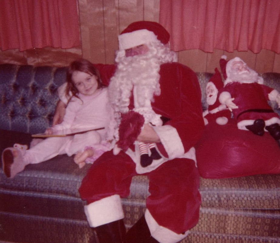 Me and Santa, an Austin College student my mom hired to come visit me.