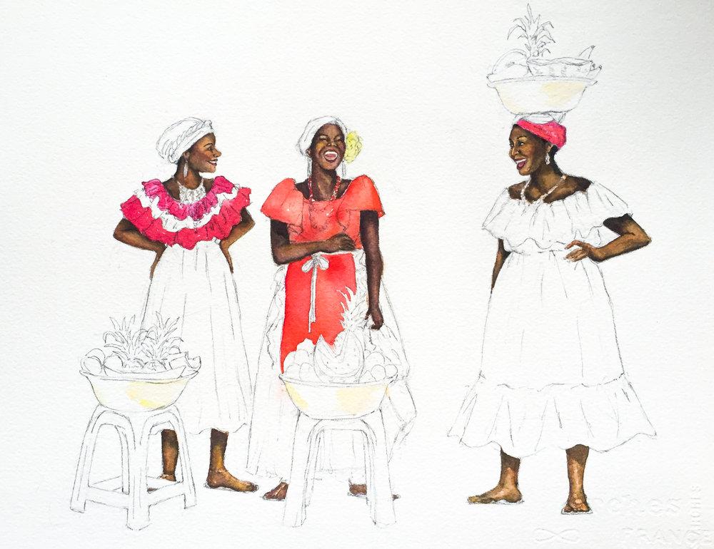 LTC Fruit Ladies in progress