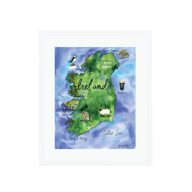 Map Of Ireland Print.Ireland Map Giclee Print Lauren Taylor Creates
