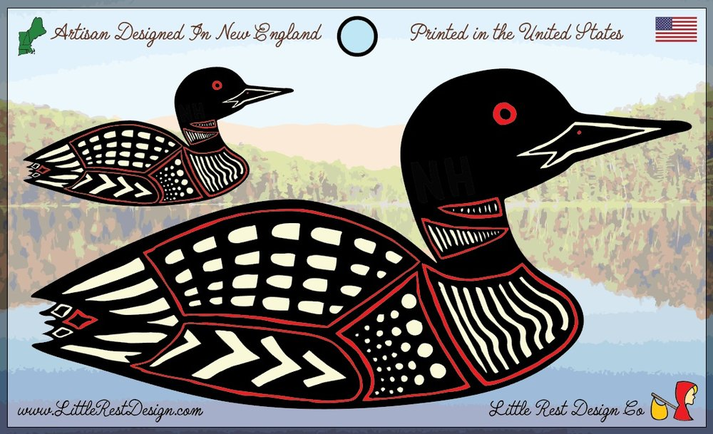 Great Northern Loon                        MSRP: $3.00 USD                                  Product SKU: LN100  Format: Double Sticker Sheet measuring 5 by 3 Inches