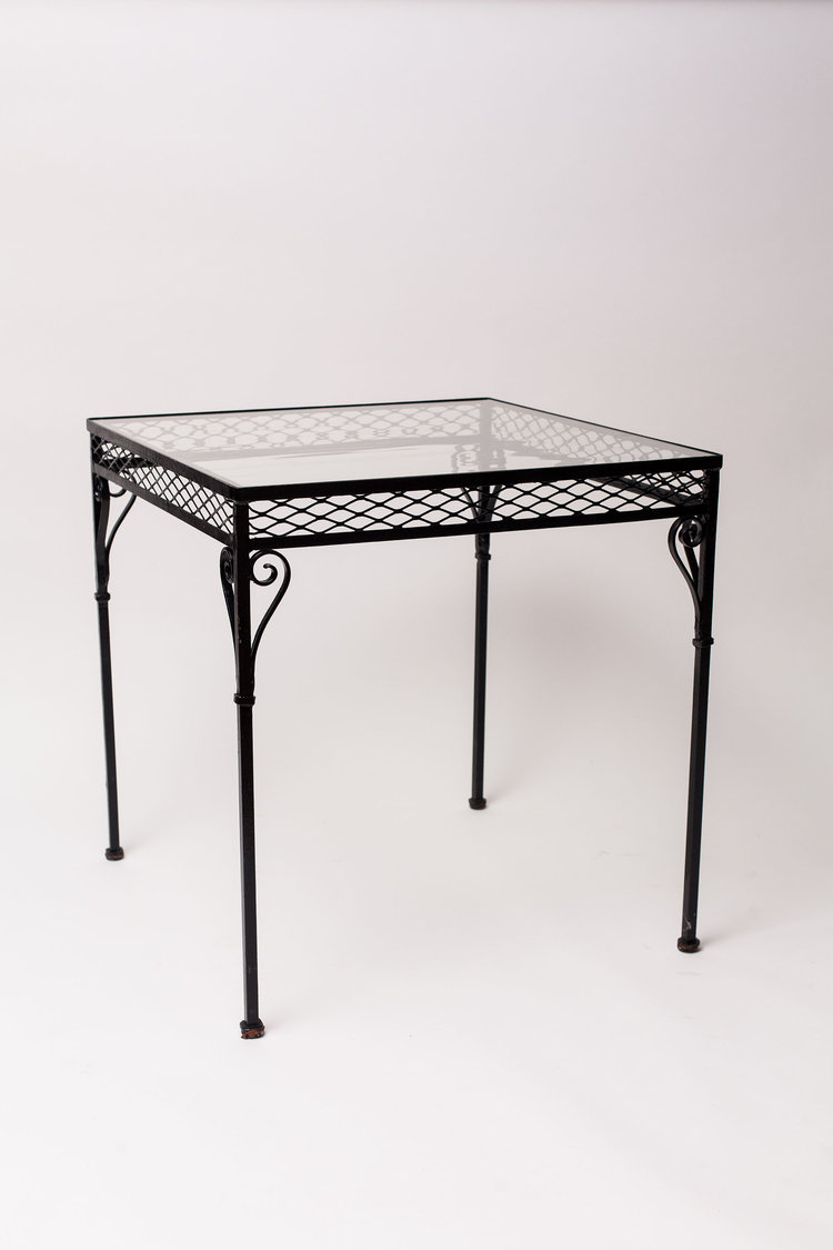 Black Wrought Iron Table Glass Top The Festive Frog