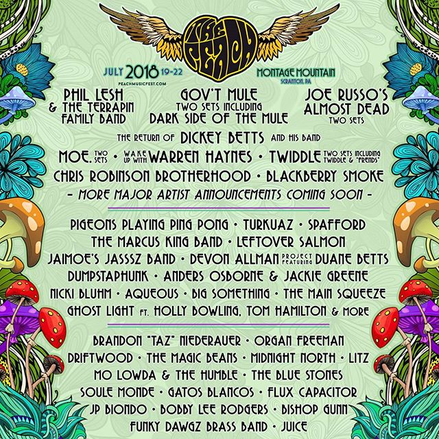 Honored to be part of this years @peachmusicfest