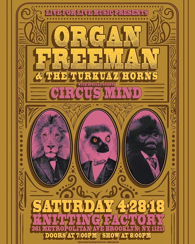 NYC! We're coming to the Knitting Factory Brooklyn with the Turkuaz horns on April 28th! Special guests Circus Mind will be joining us.  More info: https://l4lm.com/2GhXval