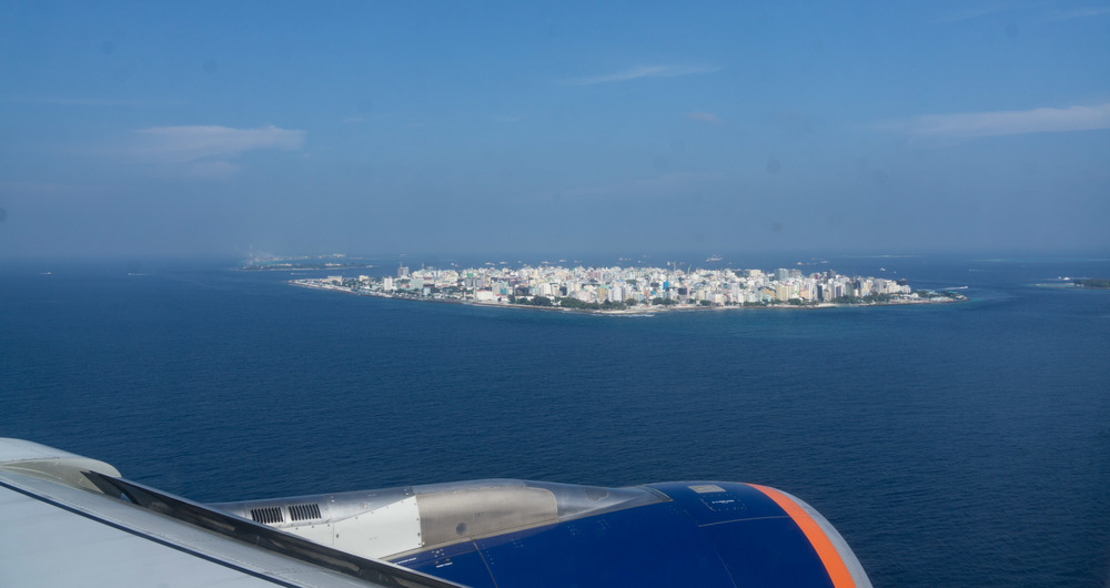 Malé - The capitol city/island has an area of just over two square miles and rises 7.9 feet above sea level.