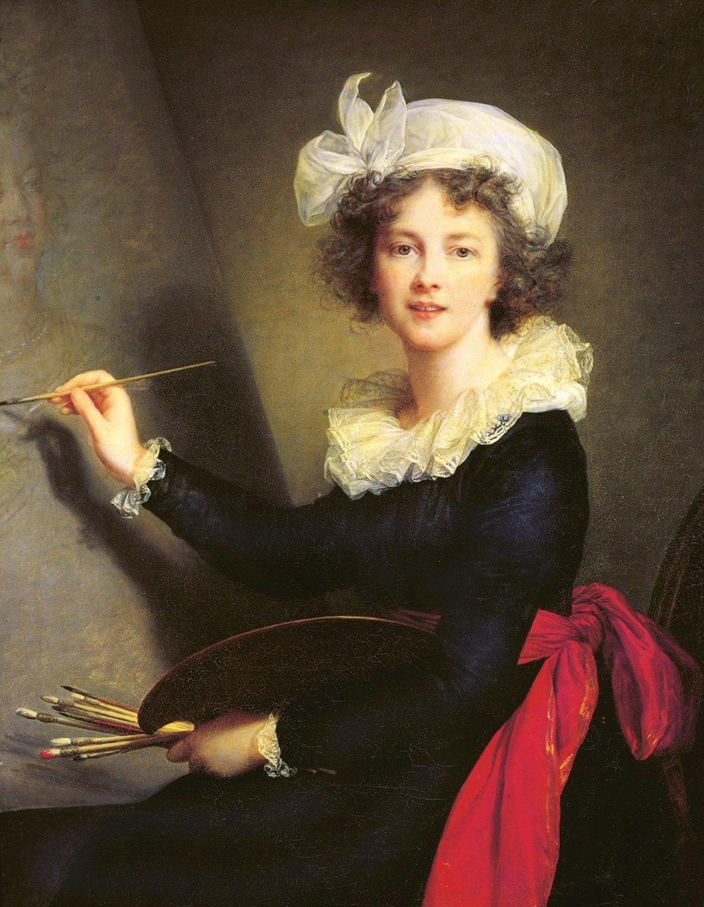 Elisabeth Vigée Lebrun, Self-Portrait, 1790, oil on canvas, Uffizi Gallery
