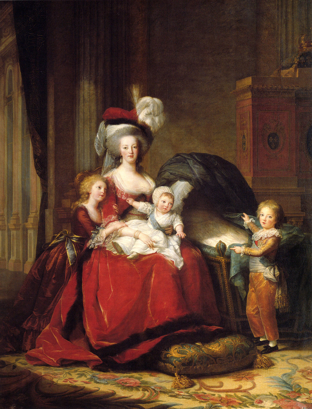 Elisabeth Vigée Lebrun, Marie Antoinette and Her Children, 1787, oil on canvas, Palace of Versailles