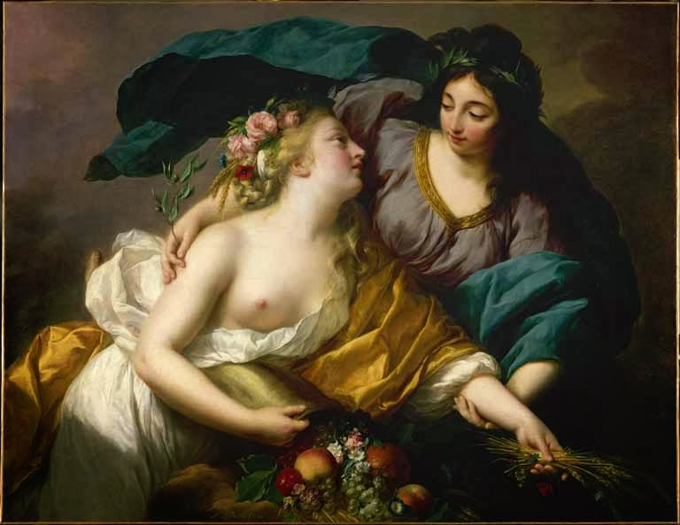 Elisabeth Vigée Lebrun, Peace Bringing Back Abundance, ca. 1798, oil on canvas, Musée du Louvre