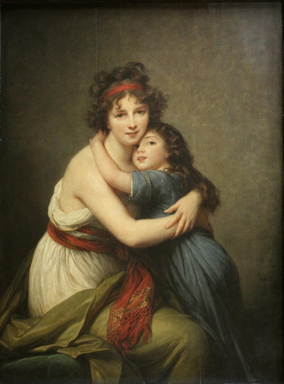 Elisabeth Vigée Lebrun, Self Portrait with Her Daughter, 1789, oil on canvas, Musée du Louvre