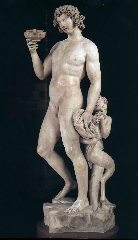 Michelangelo, Bacchus, 1496–1497, Bargello, Florence, Italy