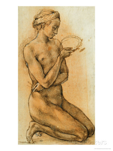 Michelangelo, Study of a Nude Woman, Musée du Louvre, France
