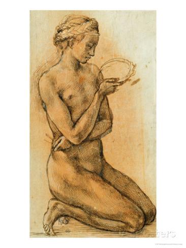 Michelangelo, Study of a Nude Woman, Musée du Louvre, France