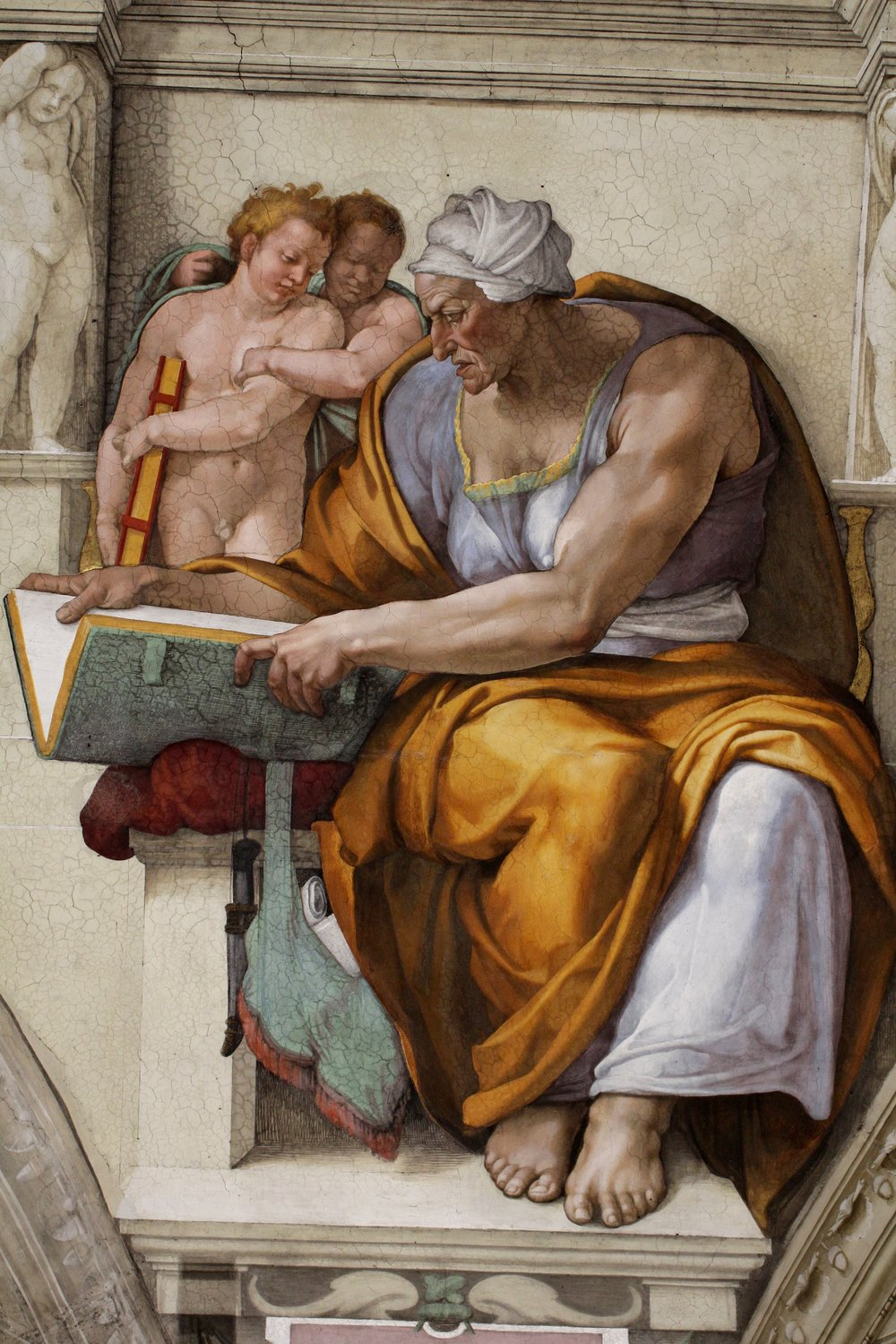 Michelangelo, Cumaen Sibyl from the Sistine Chapel Ceiling, painted 1508-1512