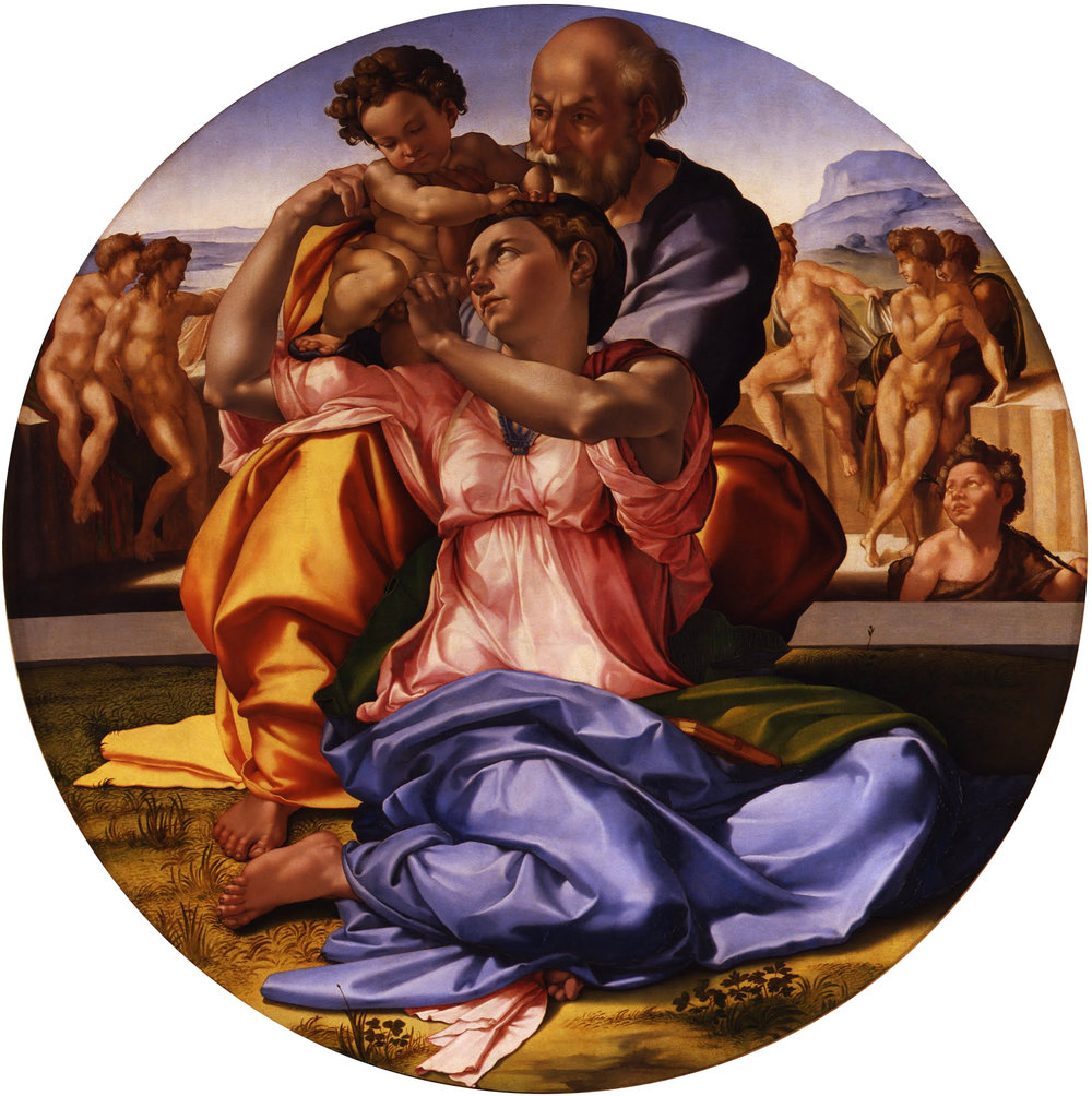 Michelangelo, Doni Tondo, c. 1503–6. Uffizi, Florence, Italy