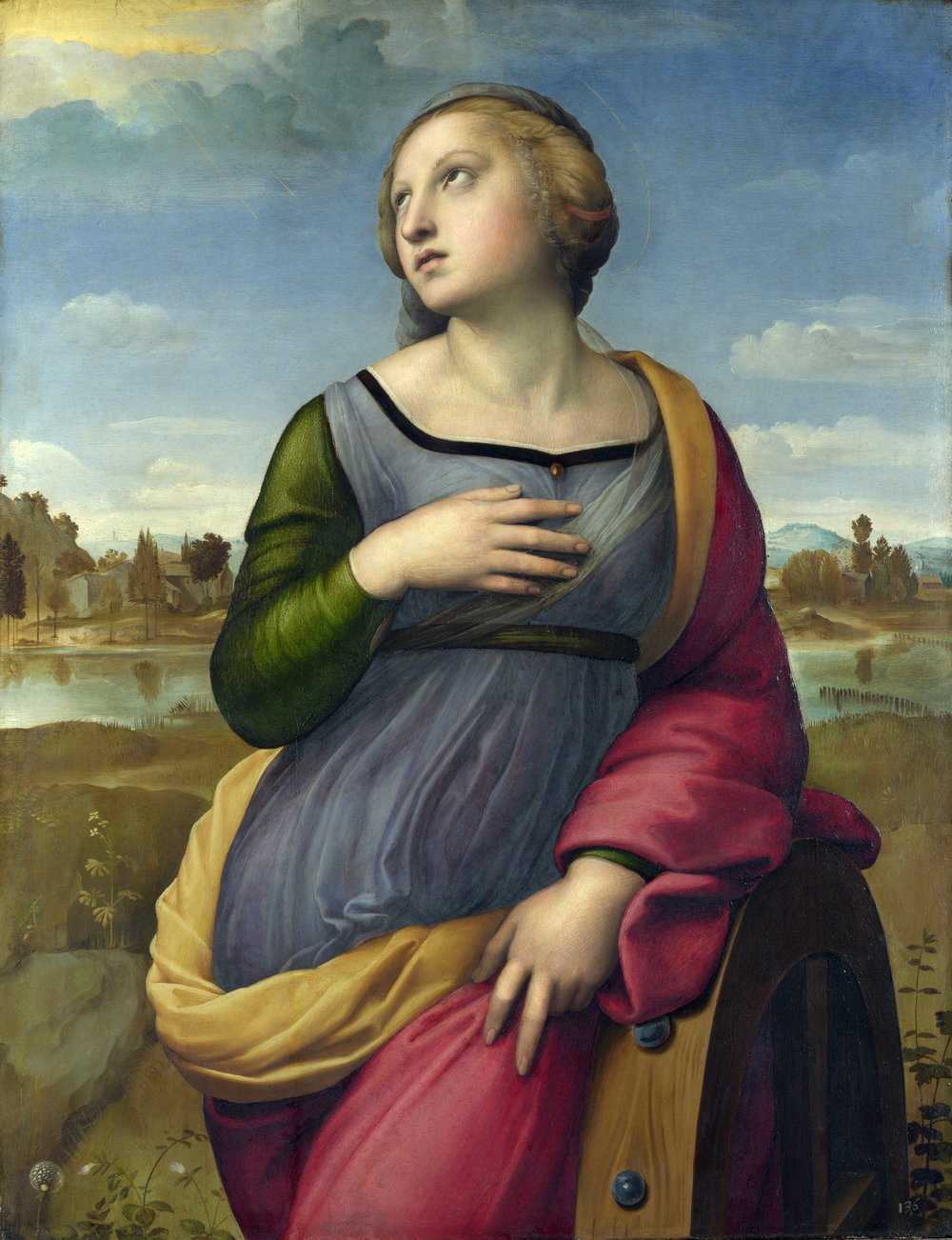 Raphael, St. Catherine of Alexandria, 1508, National Gallery, London, U.K.