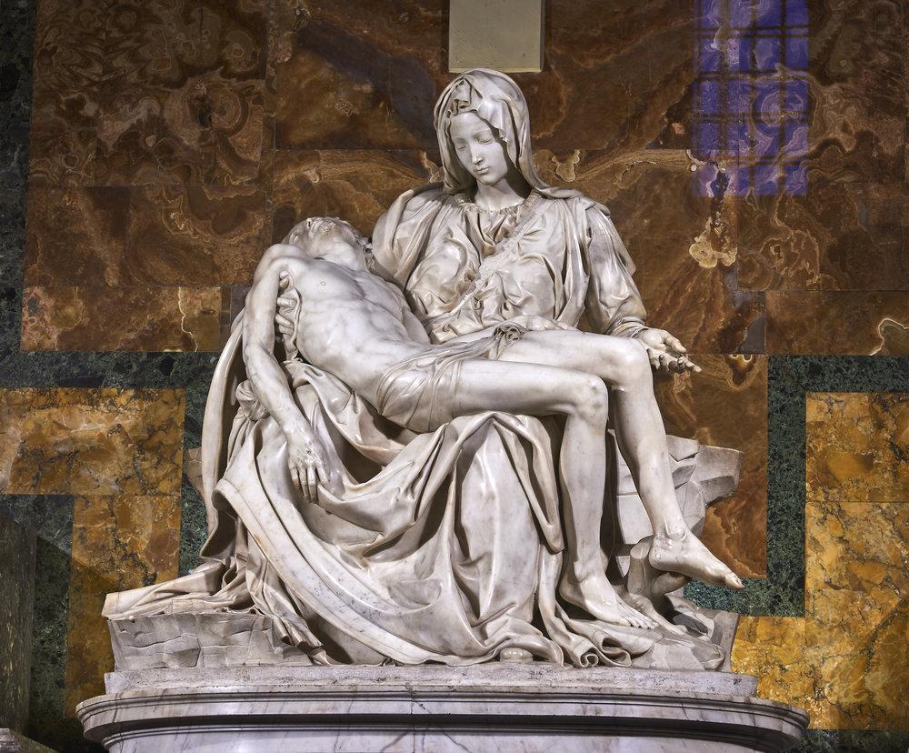 Michelangelo, Pietà - 1499-1500, Saint Peter's Basilica, Rome