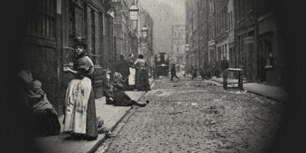 Whitechapel, east London, in the 1880s