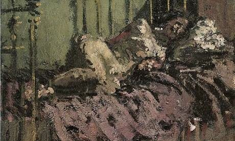 Walter Sickert, detail from Le Lit de Cuivre, c. 1906, Tate London