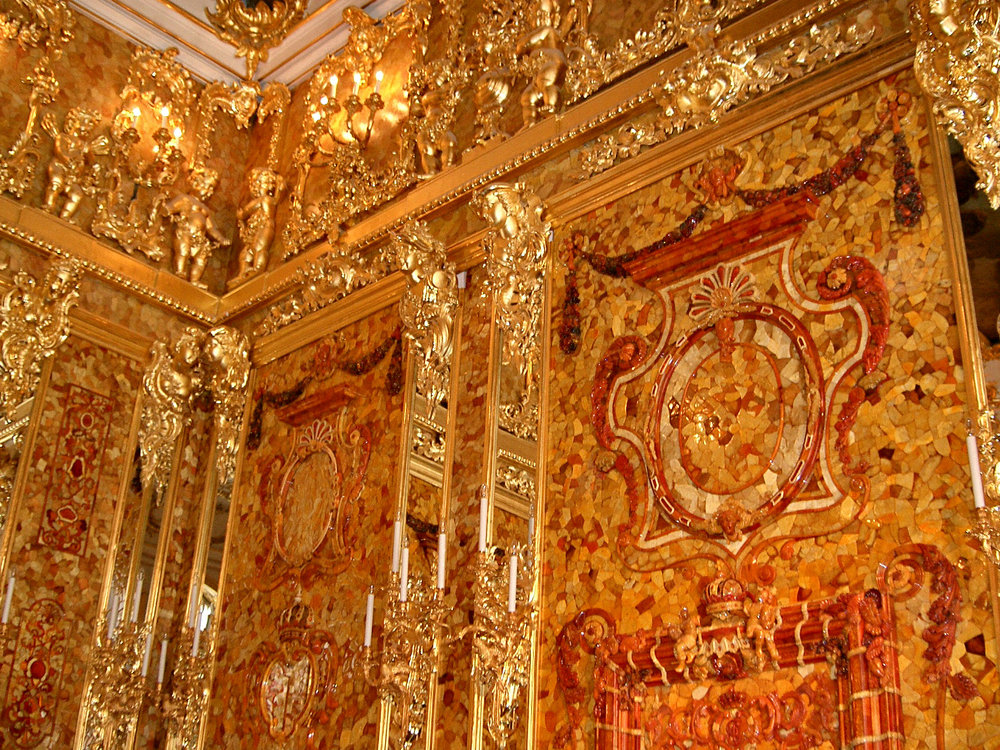 Copy of Interior shot of the Amber Room, by jeanyfan on Wikimedia Commons - Own work, Public Domain