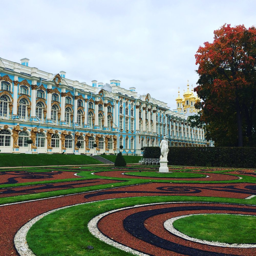 Copy of The Catherine Palace at Tsarskoye Selo (Pushkin), taken September 2016 by Jennifer Dasal