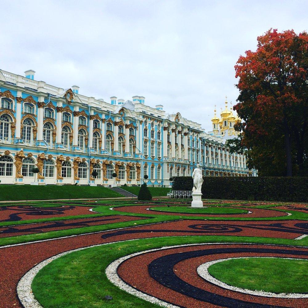 The Catherine Palace at Tsarskoye Selo (Pushkin), taken September 2016 by Jennifer Dasal
