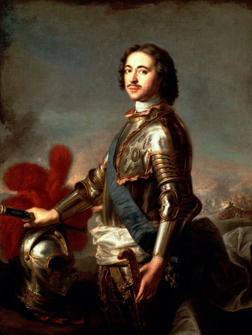 Copy of J.-M. Nattier, Portrait of Peter the Great, 1717