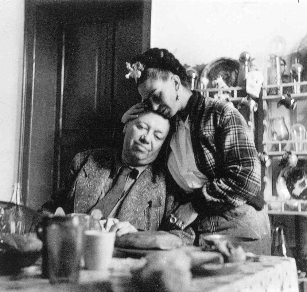 Frida Kahlo and Diego Rivera photographed by Emmy Lou Packard, 1941