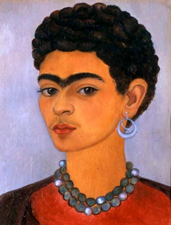 Frida Kahlo, Self Portrait with Curly Hair, 1935