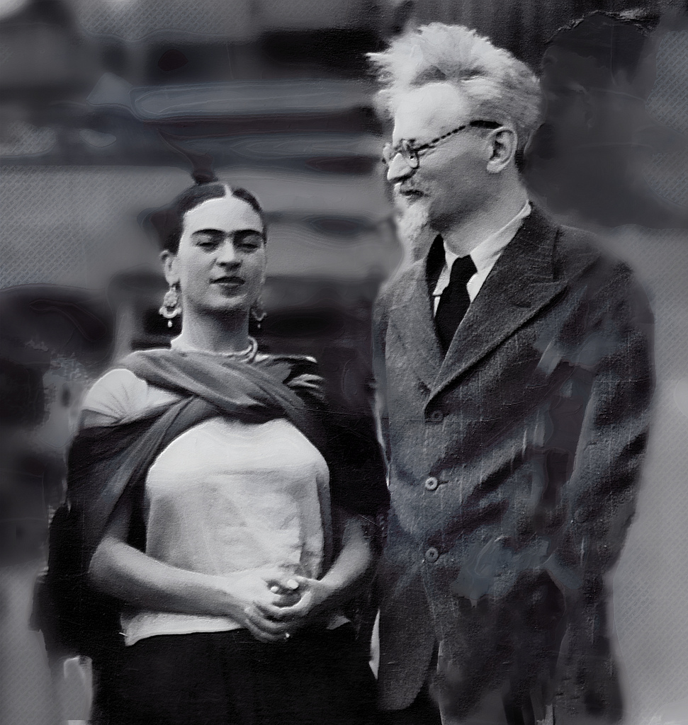 Frida Kahlo and Leon Trotsky, January 1937.