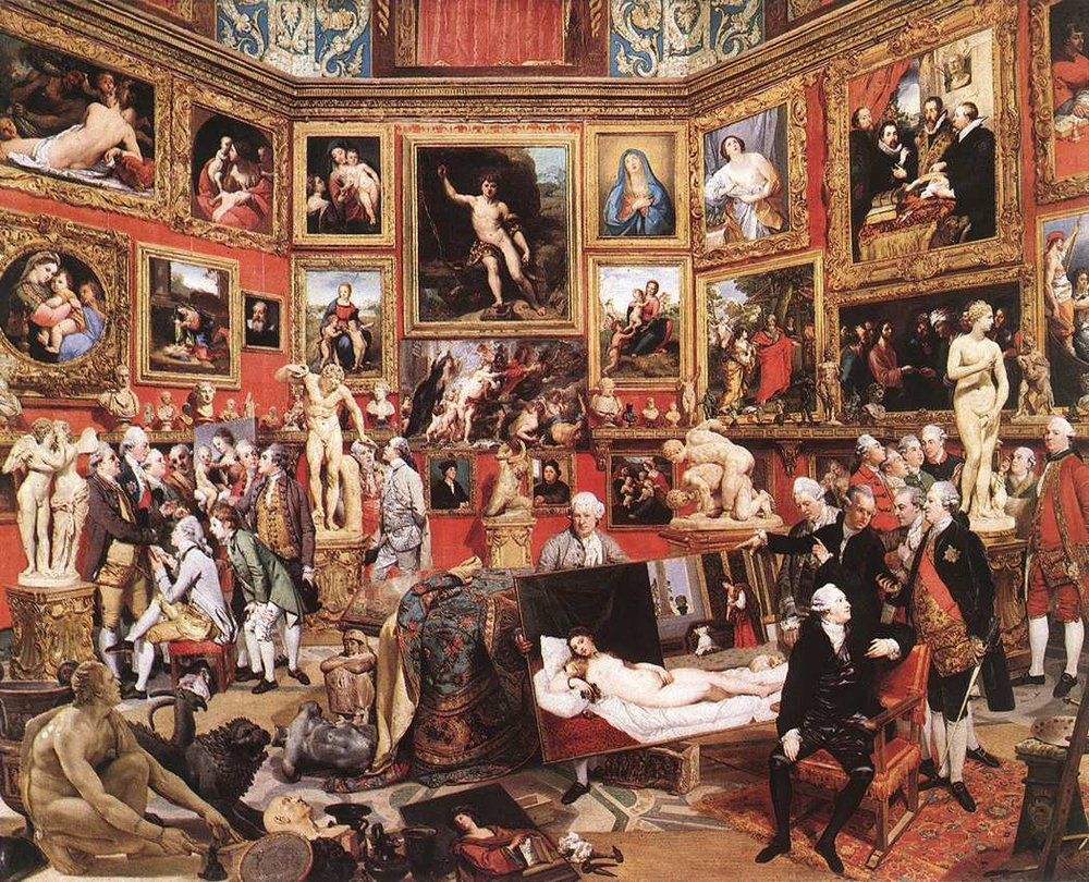 Johann Zoffany, Tribuna of the Uffizi, 1772-1778