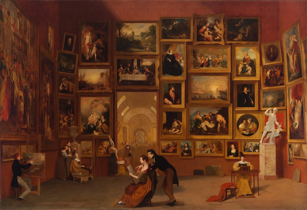 Samuel F. B. Morse's Gallery of the Louvre, 1831-1833