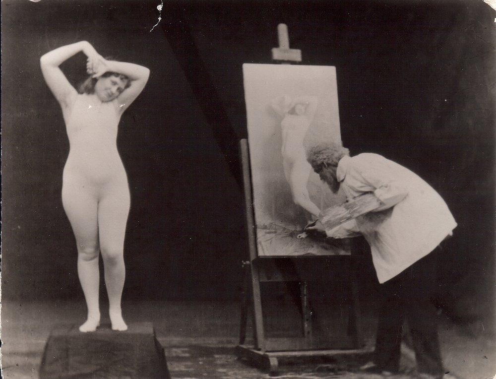 Artist and Model, photography, c.1900
