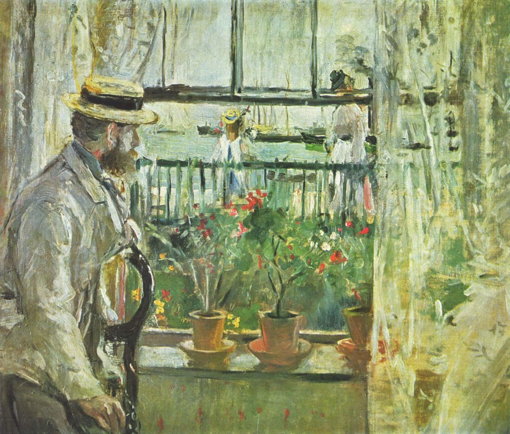 Berthe Morisot, Eugene Manet on the Isle of Wight, 1875