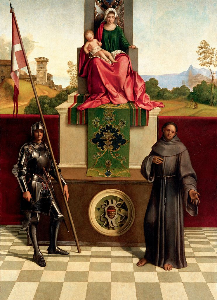 Giorgione, Madonna and Child between Saint Nicasius and Saint Francis, also known as Castelfranco Madonna, c. 1502, tempera on panel