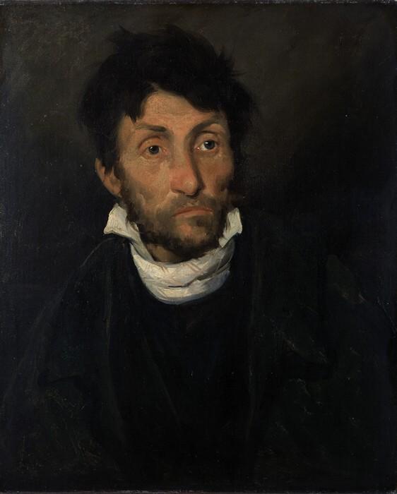 Théodore Géricault, Portrait of a Kleptomaniac, 1822, oil on canvas, 61 x 50 cm (Museum of Fine Arts, Ghent)