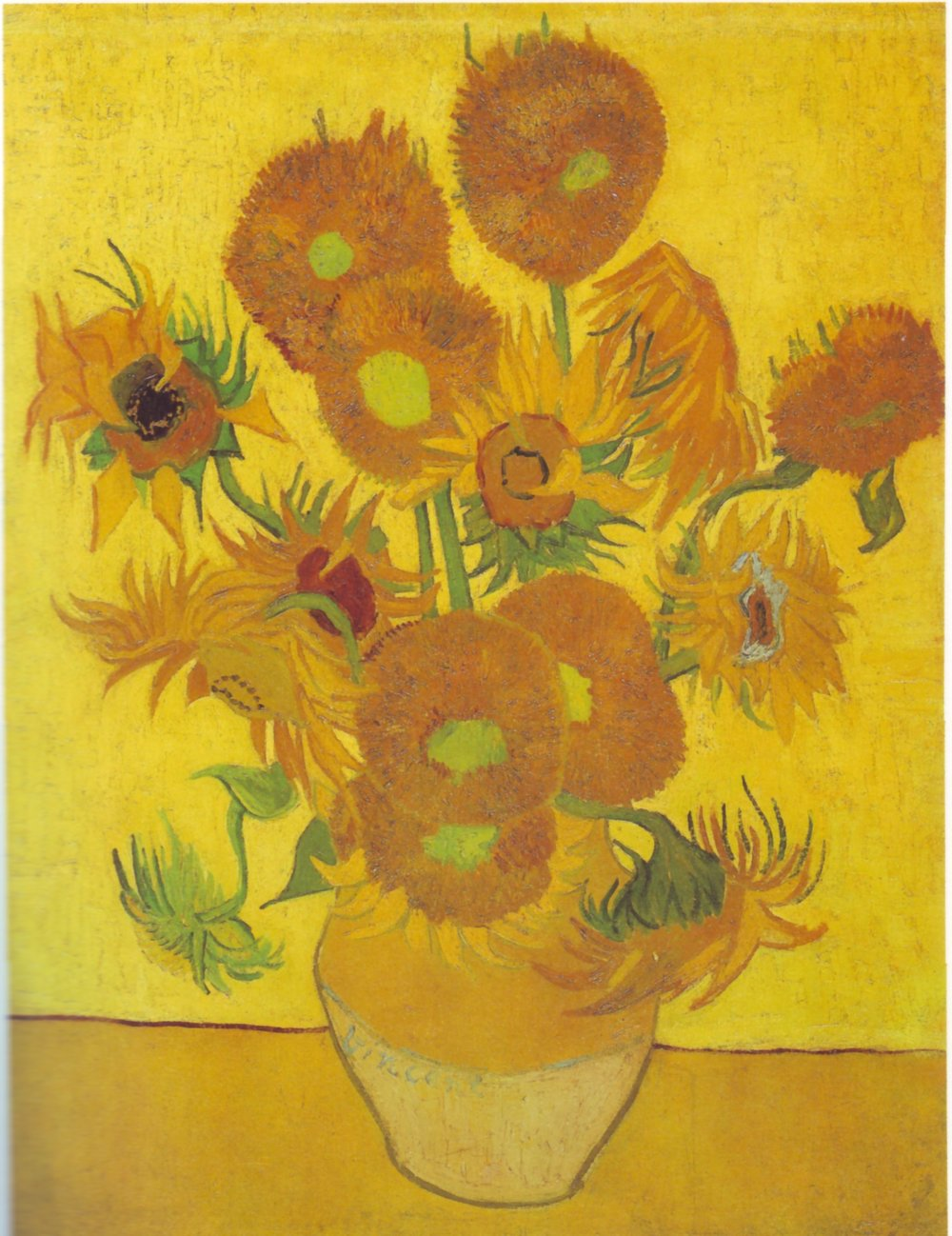 Vincent Van Gogh, Sunflowers Arles, 1888, oil on canvas, 92.5 x 73 cm, Vincent van Gogh Foundation / National Museum Vincent van Gogh, Amsterdam