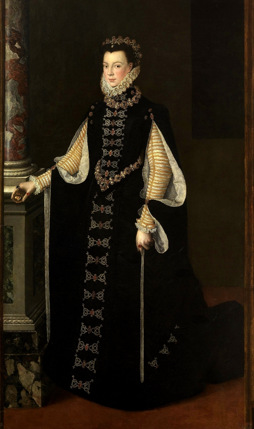 Sofonisba Anguissola, Portrait of Elizabeth of Valois Holding a Portrait of Philip II, 1561 - 1565. Oil on canvas.