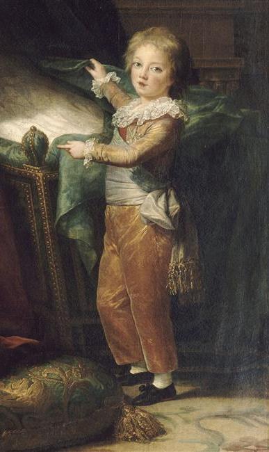 Detail of Marie Antoinette and Her Children, 1787