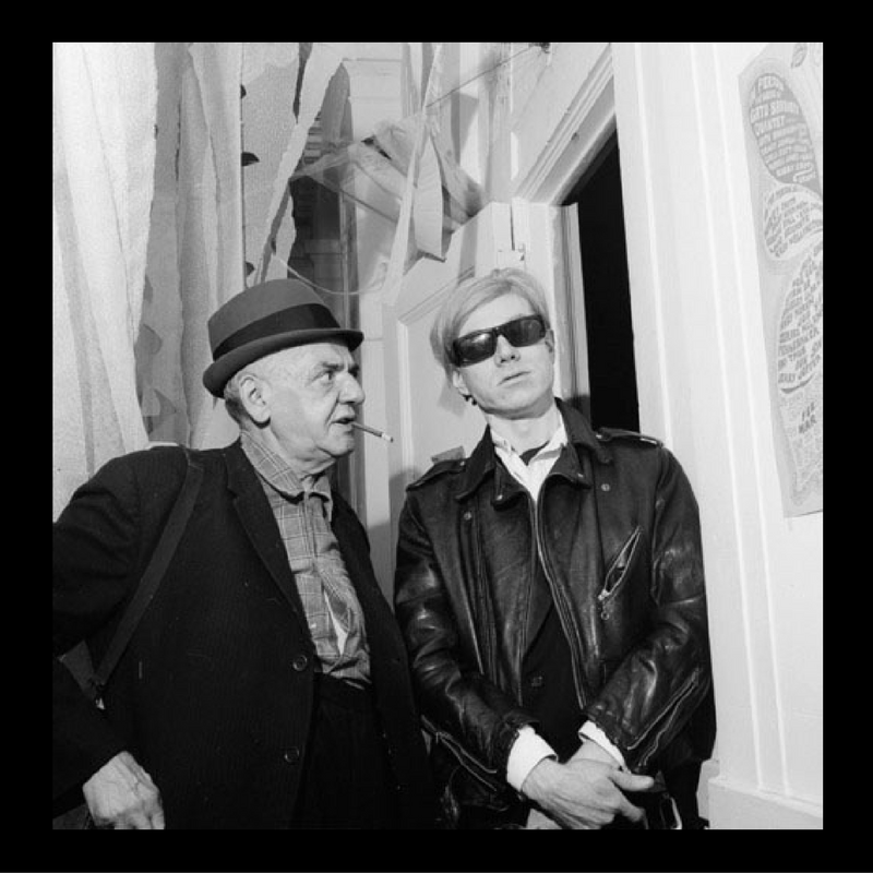Weegee (Arthur Fellig) (American, 1899-1968). Self Portrait with Andy Warhol, 1965. Gelatin silver photograph, Image: 10 3/8 x 10 15/16 in. (26.4 x 27.6 cm). Brooklyn Museum